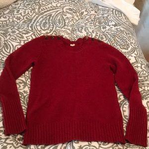 J crew red wool sweater.